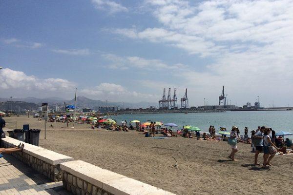 Strand von Malaga